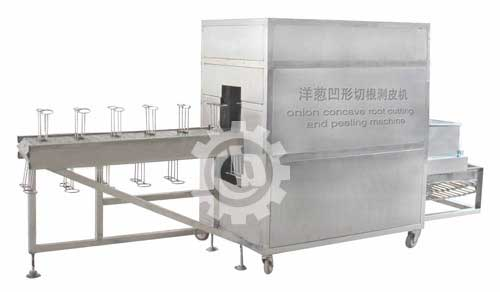 Onion Concave Cutting Peeling Machine